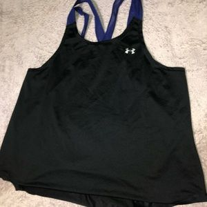Blue and Black Under Armour Tank Top